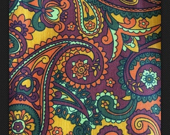 Vintage Upholstery Fabric Mod Floral Riegel Textile Corp Exclusive Screenprint