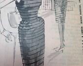 Vintage 60s Spadea Ribbon Cocktail Dress Pattern Duchess of Windsor Unused Unprinted 35 bust