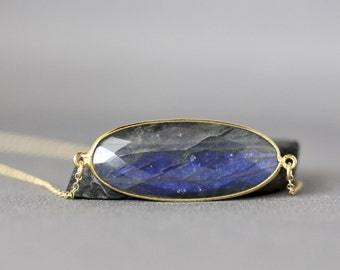Labradorite Necklace - Layering Jewelry - Bezel Necklace - Labradorite Jewelry - Labradorite and Gold - Gold Necklace - Jewelry Gift for Her