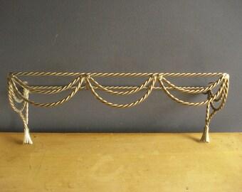 Brass Rope Shelf Base - Vintage Brass Bathroom Shelf or Rack
