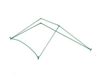 minimalist watercolor print: Minimalist Tent