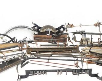 45 Salvaged Rusty Vintage Typewriter Parts Repurpose Steampunk Assemblage Craft Supply