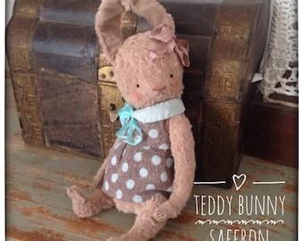 SALE 8 inch Artist Handmade Viscose Teddy Bunny Saffron by Sasha