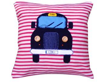 London Black cab Taxi pillow cushion.
