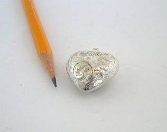 Fat Silver Heart bead