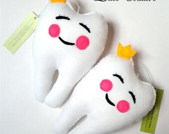 Tooth Fairy pillow, Fairy Tooth pillow, Tooth Fairy, Felt Tooth Pillow