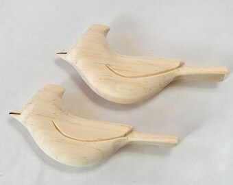 Unfinished Wooden Birds, Unfinished Ornaments Cardinal Wood Carving, Wood Sculpture, Woodworking Carvings, Adult Craft