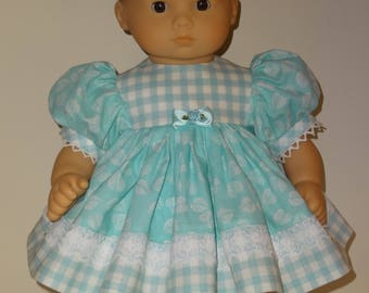 Dress, Bloomers, Headband  for 15 inch Bitty Baby doll