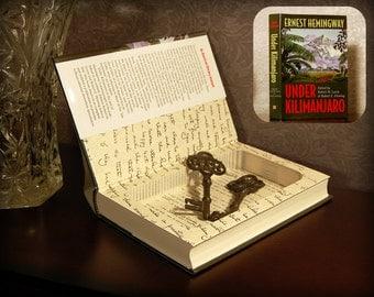 Hollow Book Safe (Hemingway's Under Kilimanjaro)