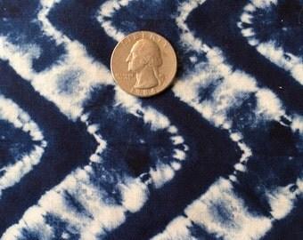 Indigo Fabric, 1 Yard, Robert Kaufman Quilt Fabric, by Heidi Dobrott, Printed Indigo, AHD 15048 62 Indigo, Zig Zag Design, Cotton