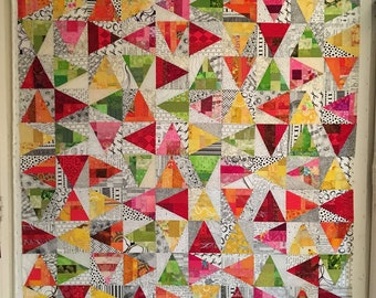 Lynne's Scrap Slab Triangle Quilts