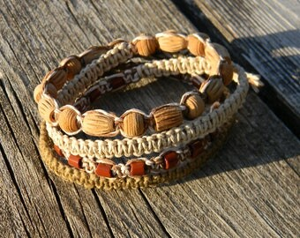 New! Hemp Wrap Bracelet