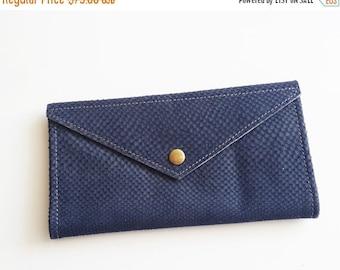 SALE blue snake texture  wallet , leather  women wallet , women purse