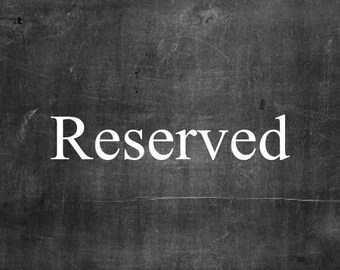 Reserved for Kristina Dollman