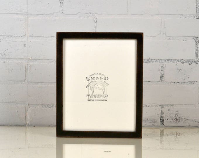 8x10 Picture Frame Super Vintage Black Finish in Peewee Style - IN STOCK - Same Day Shipping - 8 x 10 Photo Frame Rustic Black