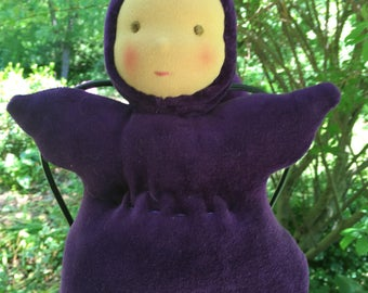 Organic Waldorf Doll Squeezy Baby Bunting Doll 10 inch Noble Waldorf Inpspired Doll
