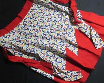 1950s Vintage Cotton Patchwork Apron New Condition Retro