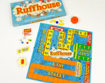 Vintage 1980 Parker Brothers Ruffhouse Board Game Complete / Dog-Eat-Dog Game of Fortune and Fate, Game For the Whole Family