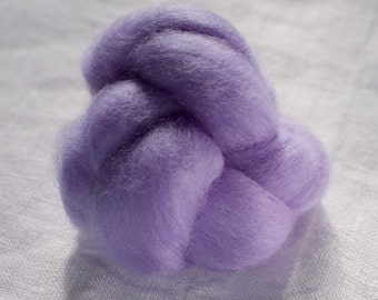 Merino Wool Top 100%, Needle Felting Wool, Wool Roving, Hand Spinning, Symphony Purple, Merino Wool Felt, Soft Merino Wool, mw64