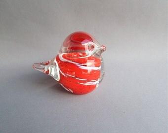Hand Blown Glass Art Mini Bird