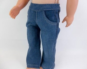 18 inch Boy Doll  Denim Straight Leg  Jeans with Real Pockets fits American Girl Doll