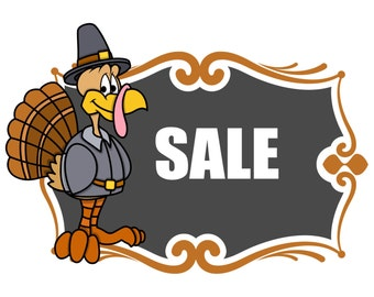 Thanksgiving Day Sale Banner-Digital Immediate Download-ClipArt-Art Clip-Holiday-background-Gift Tag-Gift Card-Scrapbook.