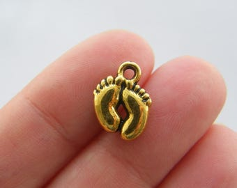 BULK 50 Feet charms antique gold tone GC47