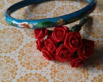 Vintage Floral Enamel Bracelet