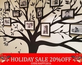 Holiday Sale - Wall decal, Family Tree Wall Decal - Photo frame tree Decal - Family Tree Wall Sticker - Living Room Wall Decals - wall gr...