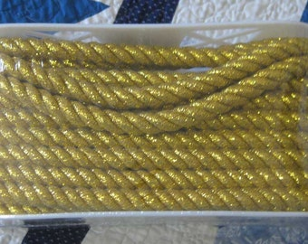 12 yds 1/2 Inch Qualified Simplicity Gold Twisted Cord-Drapery, Craft, Sewing Supplies