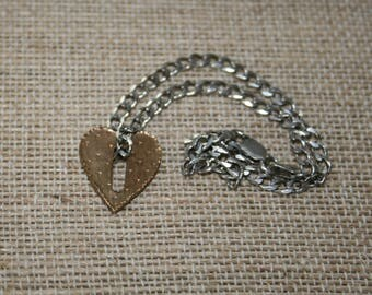 Thoman Mann Bronze Heart on SS Chain plus free USA Shipping!
