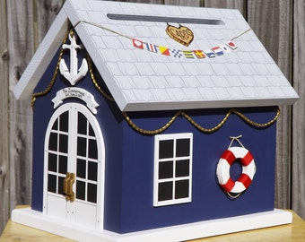 Nautical Wedding Card Box Boat House