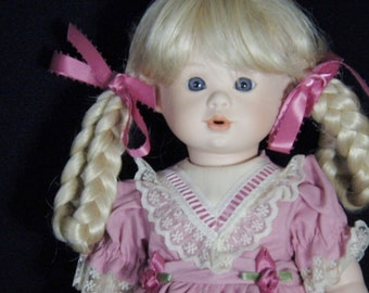 "Tarko's Doll Co. Limited Edition Porcelain Doll  - ""Easter Ashley"""