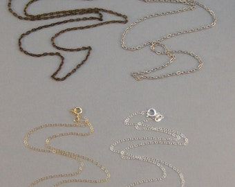Add a chain, add on,sterling chain,gold chain,antique silver chain,brass chain