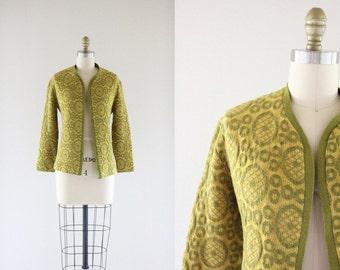 c1960's Wool Circle Cardigan
