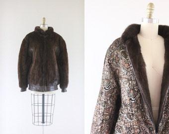 Genuine Mink Fur Reversible Bomber Coat  / Denmark