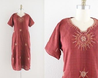 S A L E indian embroidered tunic dress