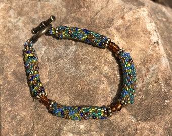 Peyote Tube Bead Bracelet