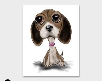 Custom Pet Portrait | Custom Dog Caricature | Unique and Whimsical Art