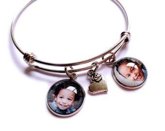 Photo Charm Bracelet / Photo Bracelet / Photo Jewelry / Personalized Bracelet / Picture Jewelry / Picture Charm Bracelet / Choice of Charm
