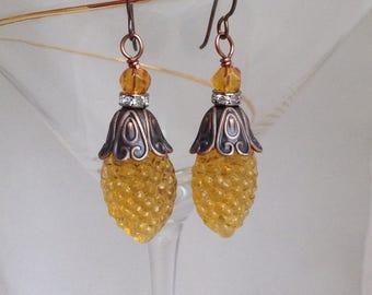 Vintage chandelier Crystal earrings