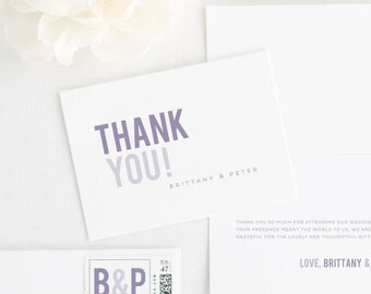 Modern Stack Thank You Cards