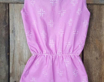 Baby Romper - Toddler Girl Outfit - Magenta Romper - Pink Pom Pom Playsuit - Purple Play Suit - Birthday Outfit - Easter Outfit - Organic