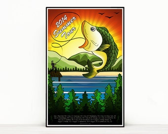 Phish Poster - Summer Tour 2014