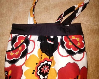 Bright fun floral purse
