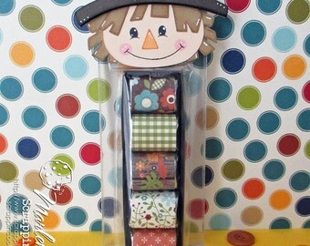 """HANDMADE """"Grateful"""" Fall Boy Scarecrow Nugget Treat Holder - Treat Toppers"""