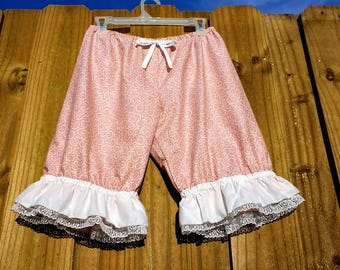 Rose pink knee length womens Bloomers