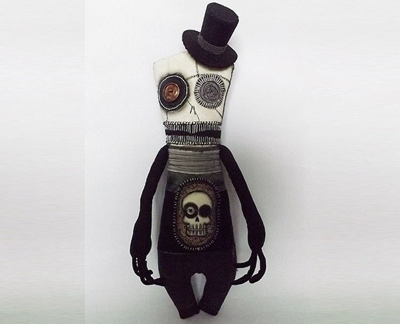 Scary Doll Creepy Horror Goth Doll Voodoo Doll Day of the Dead Doll Dickensian Cedric