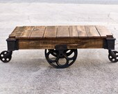 Factory Cart Coffee Table - Vintage Industrial Cart
