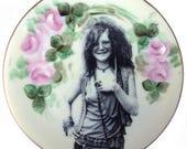 """Janis Joplin Portrait Plate 6.15"""""""